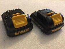 2 New Dewalt DCB120 12V 12 Volt Max Batteries Lithium Ion Li-Ion