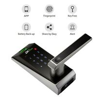 Smart Fingerprint Bluetooth Door Lock Glass Touchscreen Keyless Password Lock