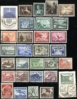 GERMANY Deutsches Reich SC# B144-B173 SEMI-POSTAL Stamps Postage Collection USED