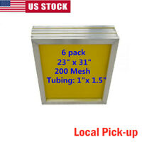 "Local Pick-up 6PACK 23"" x 31"" Aluminum Silk Screen Printing Frame - 200 Mesh"