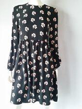 Hallhuber silk dress Cloverleaf Black Size 34 GB6 NEW