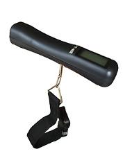 Kofferwaage/Gepäckwaage, handlich bis 40 kg, kg/g/lb/oz, digital, Farbe: Schwarz