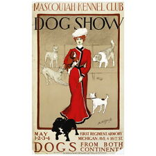 Mascoutah Kennel Club Dog Show Ad Poster Deco FRIDGE MAGNET, 1901 Chicago