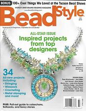 Bead Style magazine Jewelry Necklaces Stringing Wirework Crocheting Fancy stones