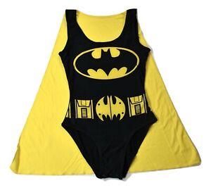 Bioworld DC Comics Juniors Batman Batgirl Caped Bodysuit Costume New XS-2XL