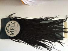 METZ #2  NATURAL BLACK SADDLE  -- Fly Tying Quality