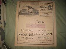 ANTIQUE 1875 GRATZ DAUPHIN COUNTY PENNSYLVANIA MAP HARRISBURG LYKENS MIDDLETOWN
