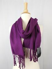 Cejon Italy Super Soft Acrylic Tassel Muffler Scarf One Size Wine - Purple #4404