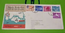 Private Cover Malaya Singapore 1955 QE Queen Elizabeth Ship Series 5v Stamp FDC