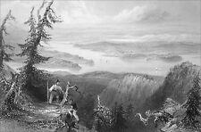 CANADA (QUÉBEC) - LE LAC MEMPHREMAGGOG - Gravure du 19e siècle