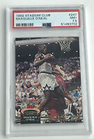 SHAQUILLE O'NEAL SHAQ 1992 TOPPS STADIUM CLUB #247 ROOKIE RC PSA 7.5 NBA HOF