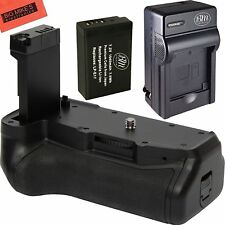 Replacement Battery Grip for Canon Rebel T7i Camera + 1 LP-E17 Battery + Charger