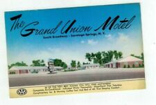 NY Saratoga Springs New York vintage post card Grand Union Motel