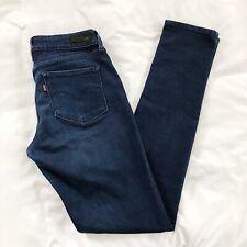 Womens Levi Bold Curve Modern Rise Skinny Size 4 27x32 Dark Wash