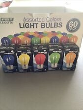 Lot Of 52 - Feit Electric Assorted Colors Light Bulbs 11W SIGN LAMP 11S14-TY-130