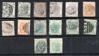 Hong Kong QV 1863-70 used collection and shades WS14732