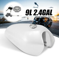 9L2.4 Gal Motorcycle Gas Fuel Tank Petrol Cap Switch For Honda CG125 Cafe