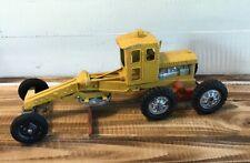 Vintage 1950's Hubley #503 Die Cast Metal Road Grader Toy Yellow