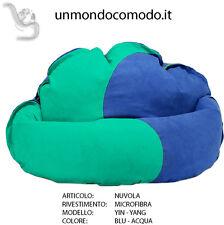 unmondocomodo.it: Poltrona sacco NUVOLA rivestimento in MICROFIBRA - BLU & ACQUA