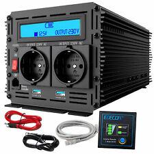 Power Inverter 3000W 6000W DC 12V a AC 220V Potenza Convertitore LCD 2 porte USB