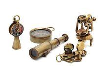 Nautical Gift Set-Miniature Telescope,Theodolite,Telegraph,Sextant,Compass Key