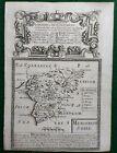 Antique road map c1720 Owen Bowen Gloucestershire Worcestershire Merionethshire