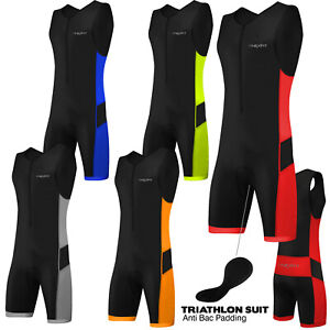 Triathlon Tri Suit Mens Padded Compression Running Swimming Cycling Skinsuit
