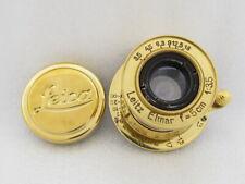 Leitz Elmar f3,5/5cm Russian EXC! GOLD M39 Lens to 35mm RF Camera Leica II(D)