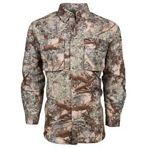 King's Camo Men's Safari Hunter Series Long Sleeve Shirt Desert Shadow