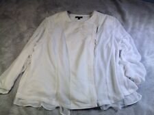 Lane Bryant A216 Women's Top Blouse Zippered Career Office White Dressy Size 22W