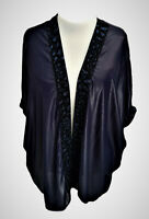 Ladies Glitter Trim Open Front Waterfall Jacket Special Wear Size 18/20 to 34/36
