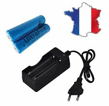 PILE 18650 ULTRAFIRE  3.7V 5000mAh RECHARGEABLE + CHARGEUR LAMPE MOD ACCU LED