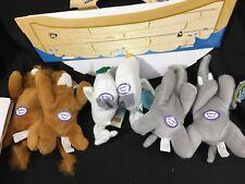 Beverly Hills Teddy Bear Company Noah's Arc Ship Mates Set 6 Plush Animals NEW