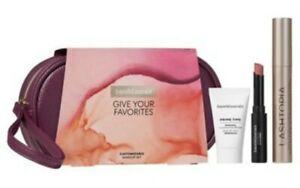 Bare Minerals Give Your Favorites 3 Piece Makeup Bag, Primer, Mascara, Lipstick