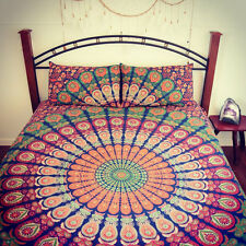 10 PC Wholesale Lot Indian Twin Mandala Tapestry Throw Wall Hanging Coverlet