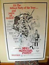 MAD MONSTER PARTY 1968 ORIG 27X41 MOVIE POSTER BORIS KARLOFF PHYLLIS DILLER