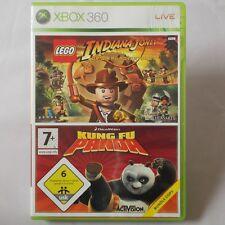 XBOX 360-Microsoft ► Confezione doppia: LEGO Indiana Jones   Kung fu Panda ◄ Top