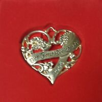 """Gorham """"Our First Christmas"""" Silver Plated Ornament Style # 6309298"""