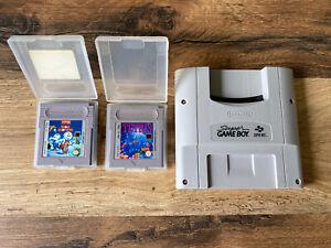 Original Super Game Boy Adapter für SNES mit 2 Spielen