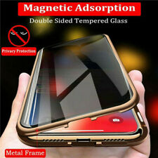 Magnetic Case For iPhone 11 Pro Max 8 7 SE 2020 Anti Spy Privacy 360 Glass Cover