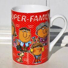 Kaffeetasse Becher Super Familie Sprüche Oma Opa ppd Home Porzellan 0,25l H.10cm