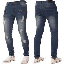 NEU ENZO Designer Herren Denim Jeans blau Hose Hosen alle Bund Grössen