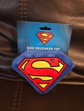 Buckle-Down Dog Squeaker  Toy Plush Superman Shield