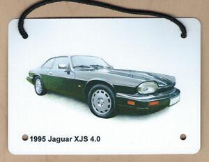 Jaguar XJS 4.0l 1995 - A6 (105 x 148mm) Aluminium Plaque - Ideal Gift