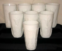 "8 Indiana Colony * HARVEST* GRAPES WHITE* 5 3/4"" - 14 OZ ICED TEA TUMBLERS*"