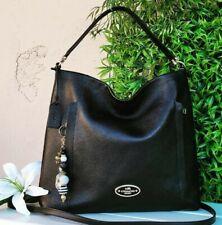 Coach rare LRG size scout blk leather hobo handbag purse satchel crossbody 34311