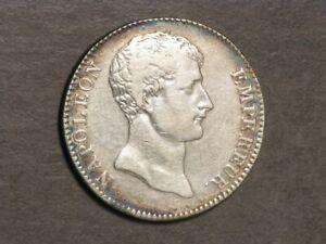 FRANCE 1803(L'AN12-A) 5 Francs Napoleon I Silver Crown VF
