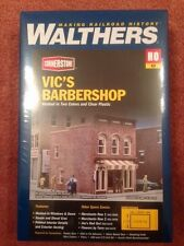HO Scale Walthers Cornerstone 933-3471 Vic's Barber Shop Building Kit