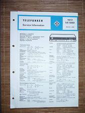 Service Manual für Telefunken Opus 6060,ORIGINAL