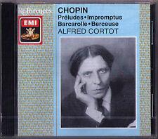 Alfred Cortot: Chopin 25 PRELUDES & 4 Impromptus Berceuse barcardlle EMI CD NEUF